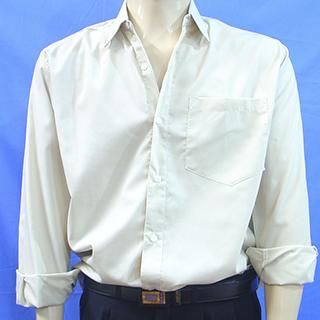 camisa-social-CREME-masculina-uniforme-miniara